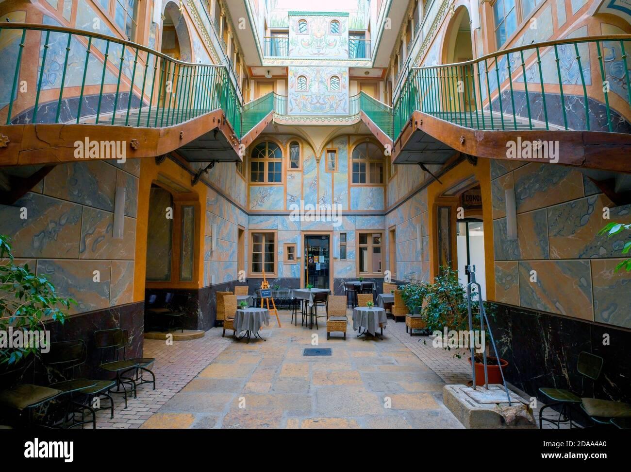 Ancien Manège one of La Chaux-de-Fonds architectural jewels. Canton Neuchâtel, Switzerland. Stock Photo