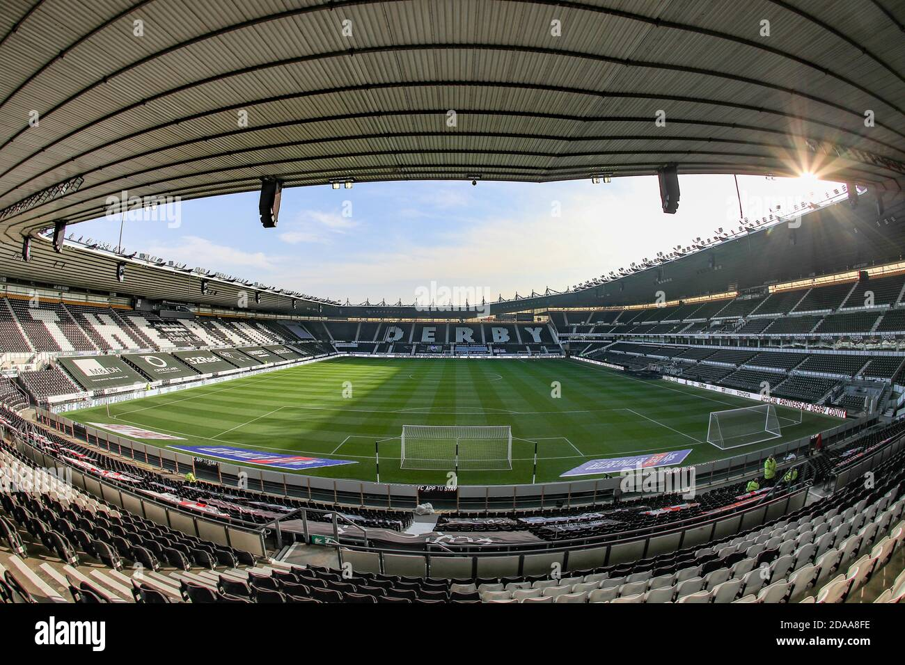 A General View Of Pride Park Stadium Ahead Of This Afternoons Game With Derby County And Barnsley Stock Photo Alamy