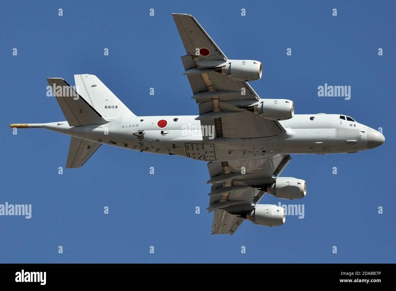 KAWASAKI P-1 MARITIME PATROL AIRCRAFT OF THE JAPANESE NAVY. Stock Photo