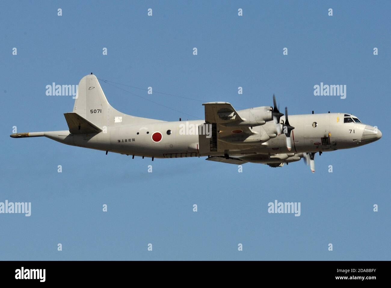 LOCKHEED P-3C ORION MARITIME PATROL AIRCRAFT OF THE JAPANESE NAVY (JMSDF). Stock Photo