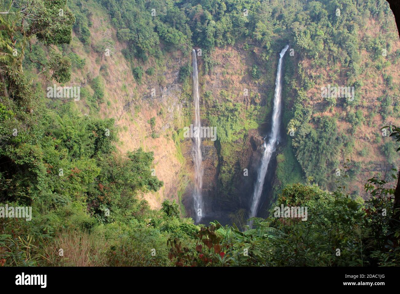 tad fane waterfalls at bolovens in laos Stock Photo