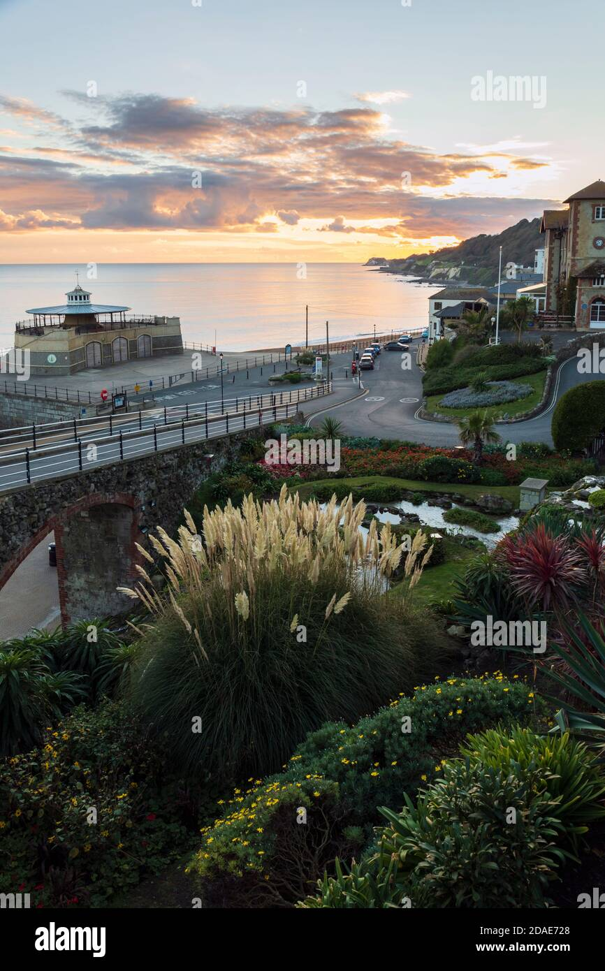 Ventnor Cascade Gardens at sunset, Isle of Wight Stock Photo