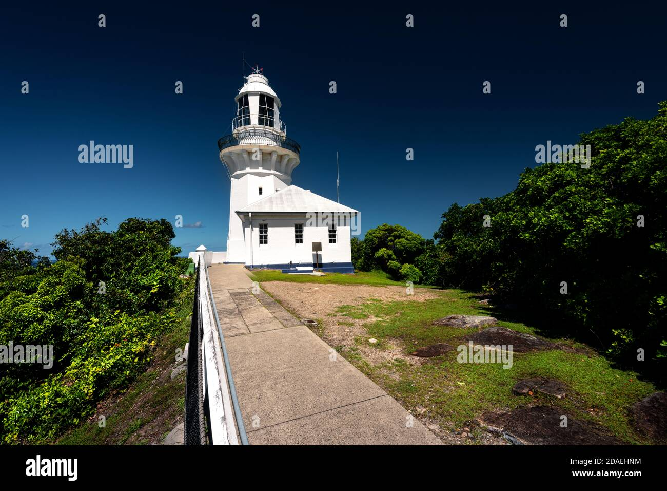 Heritage-listed Smoky Cape Lighthouse in Hat Head National Park. Stock Photo