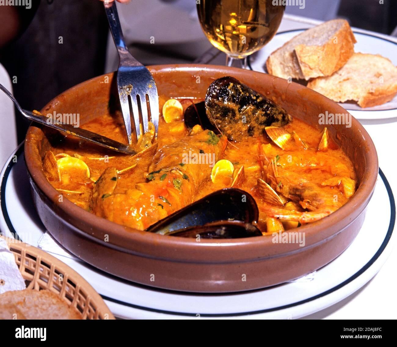 Seafood Zarzuela Stew Spain Food High ...