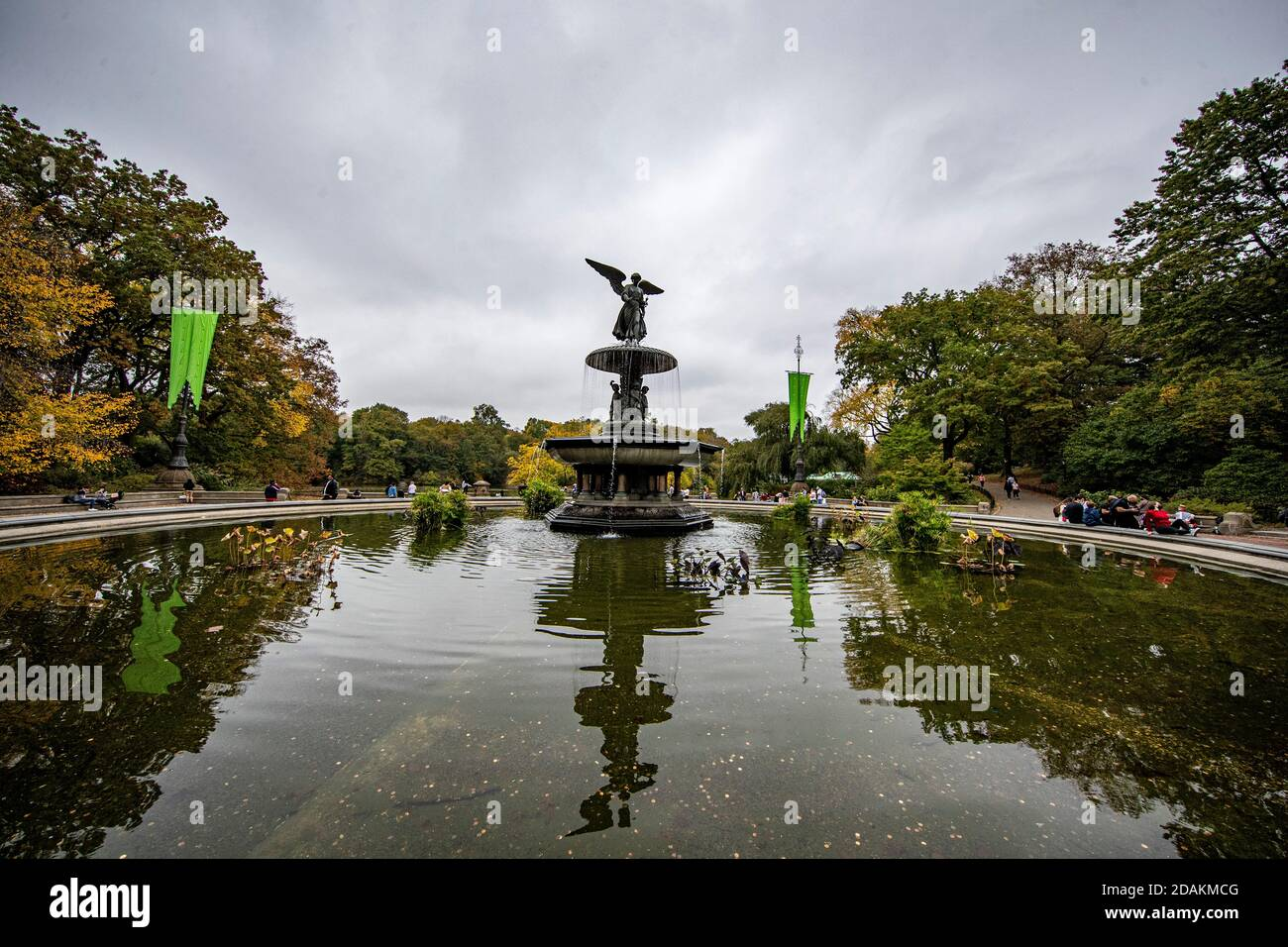 The Bethesda fountain in Central Park, New York City Stock Photo