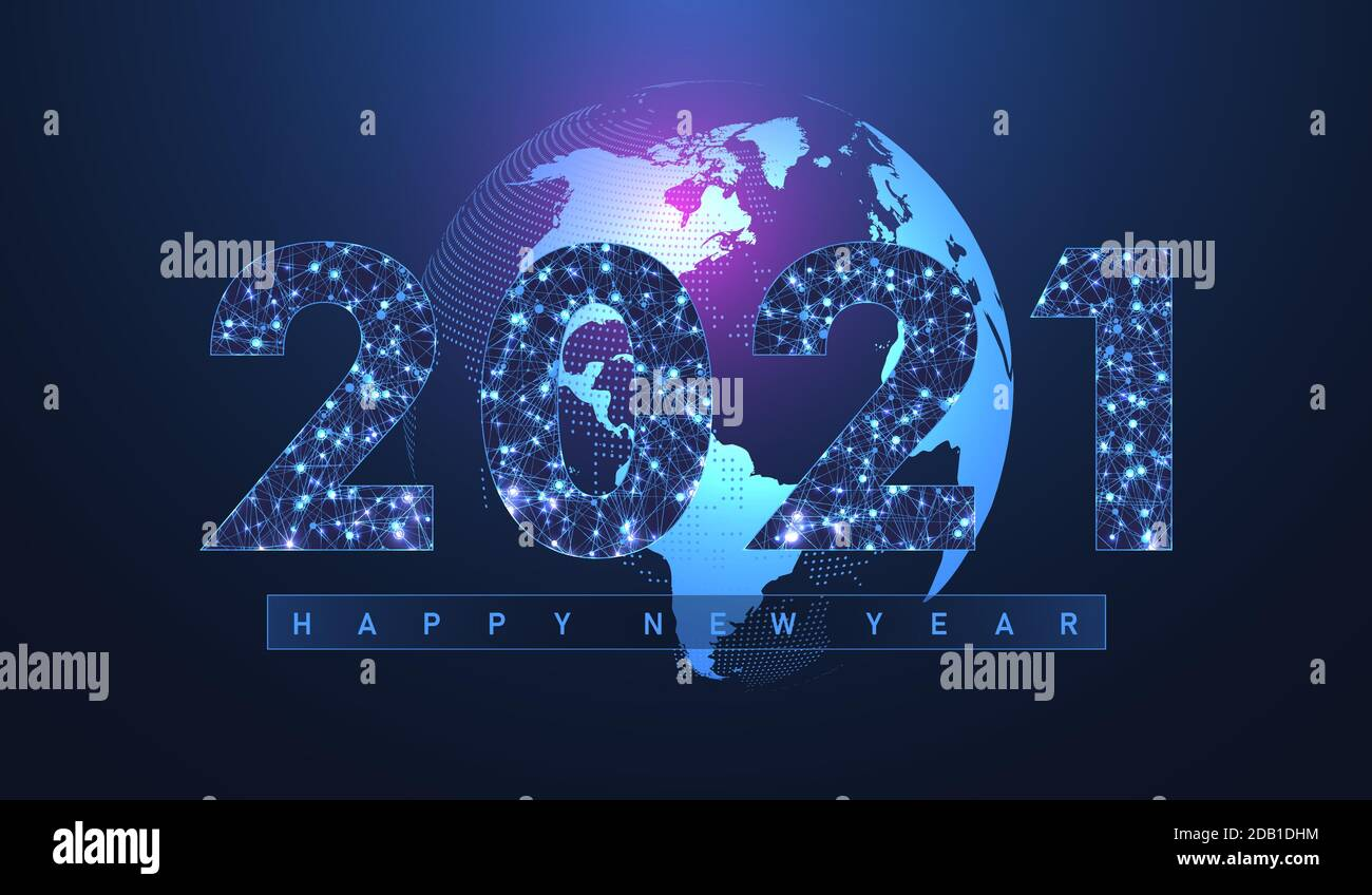 2021 Christmas Technology Modern Futuristic Technology Template For Merry Christmas And Happy New Year 2021 With Connected Lines And Dots Plexus Geometric Effect Global Stock Vector Image Art Alamy