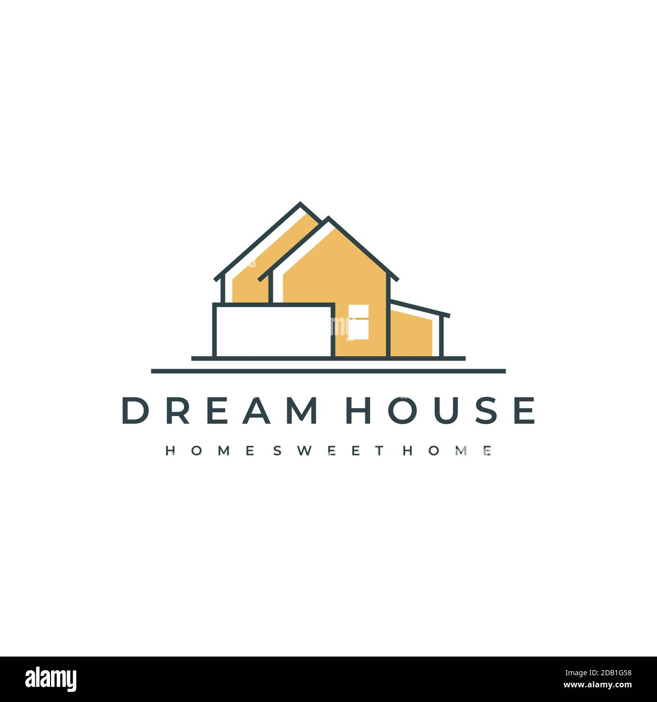 Abstract House For Construction Or Architecture Company Vector Emblem For Store With Home Decor Items Logo Design Inspiration Stock Vector Image Art Alamy