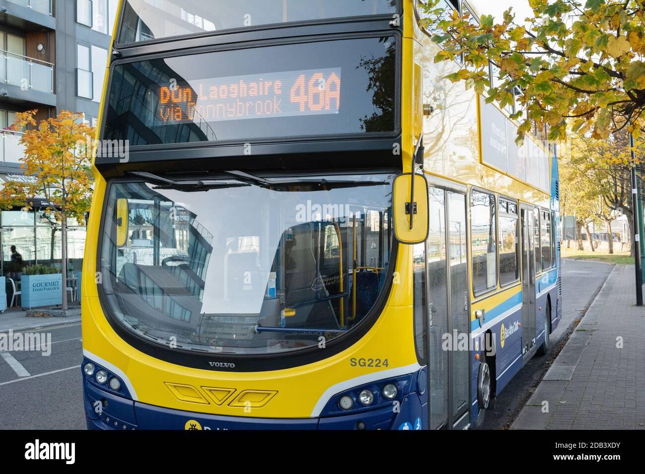 Public transport in Dun Laoghaire in County Dublin, Ireland Stock Photo