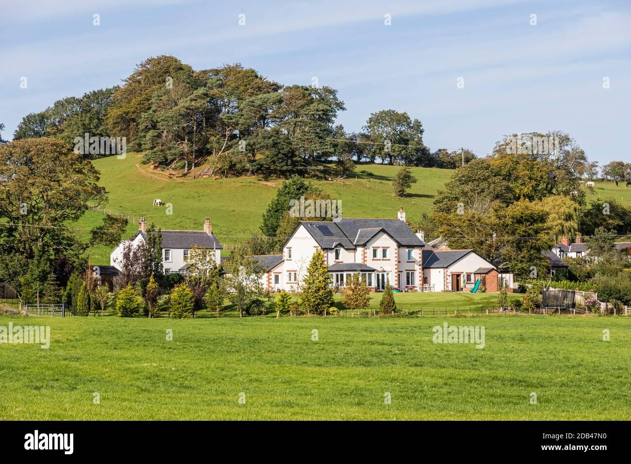 The village of Irthington, Cumbria UK Stock Photo