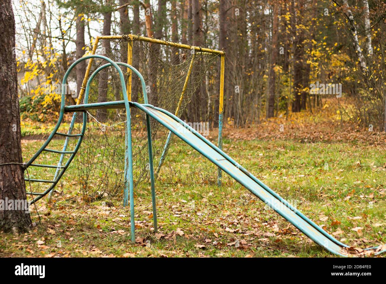Old Abandoned Playground Slide High Resolution Stock Photography And Images Alamy
