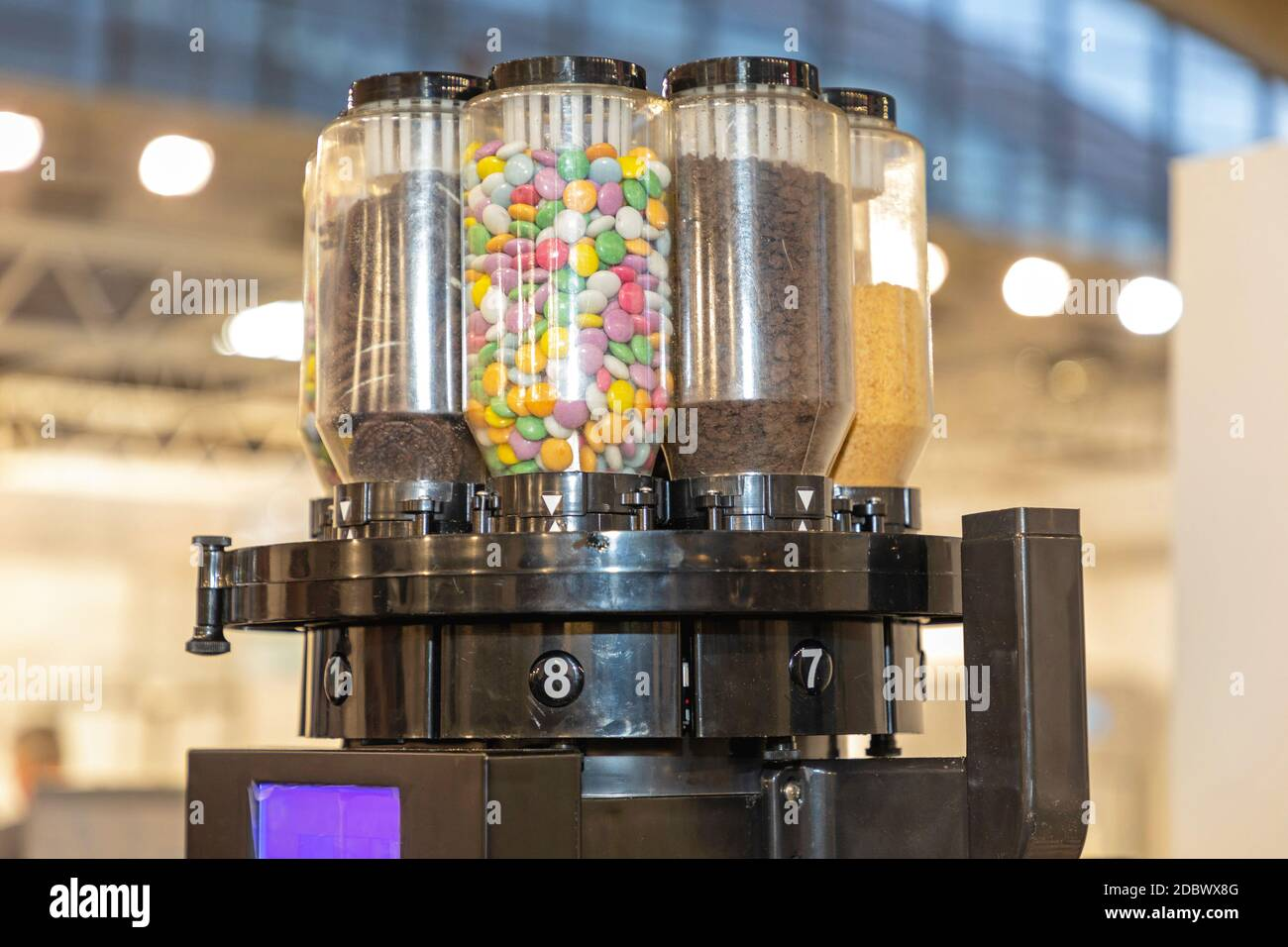 Automatic Dry Food Toppings Dispenser Machine Stock Photo Alamy