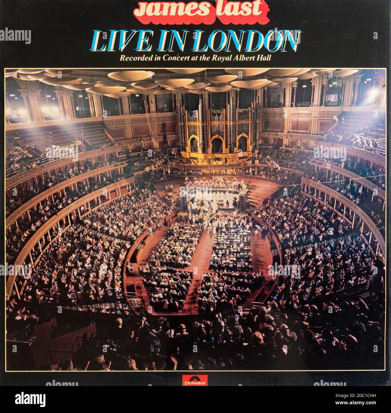 James Last Live in London, vinyl LP record album cover Stock Photo