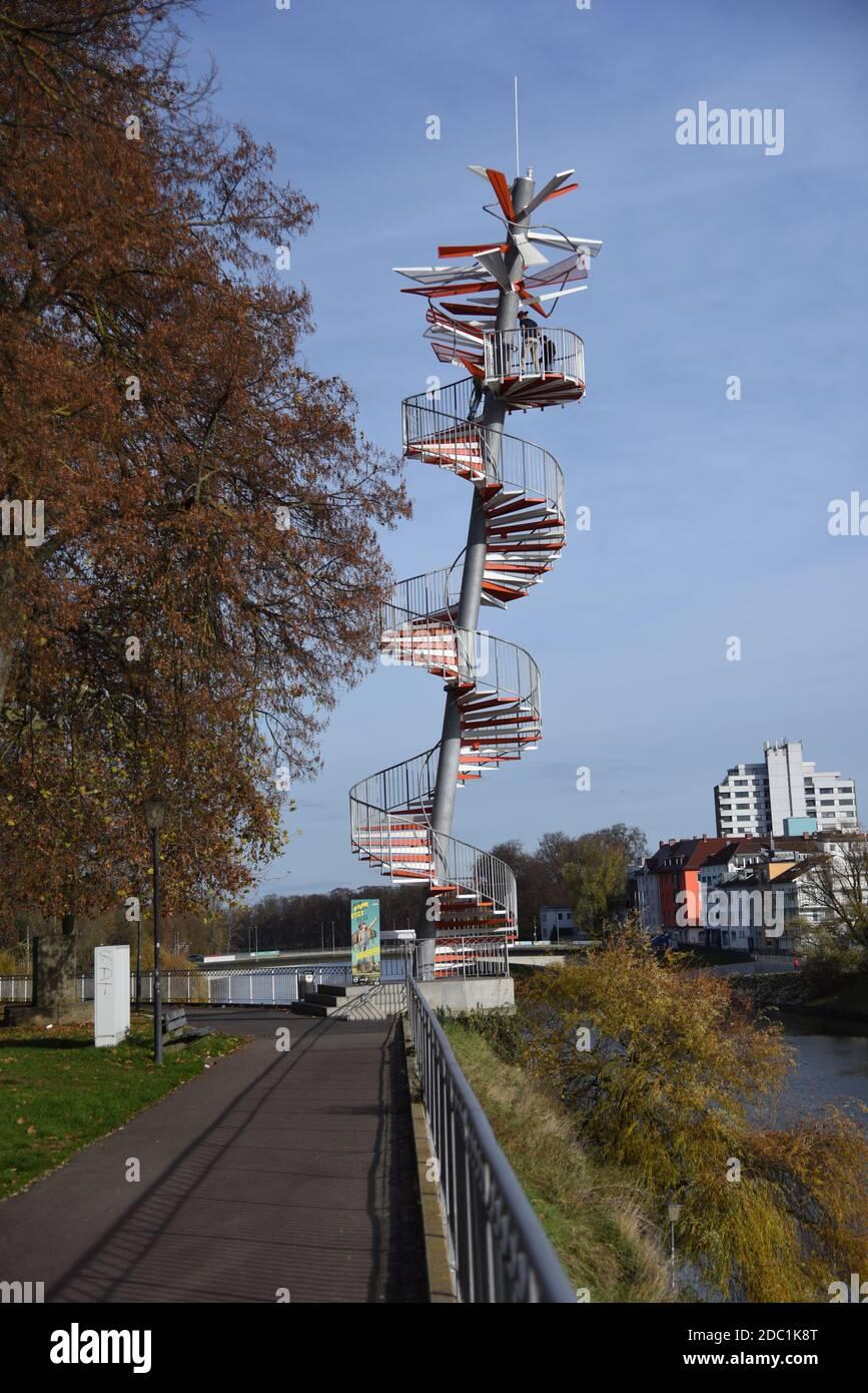 Ulmer Berblinger Tower Stock Photo