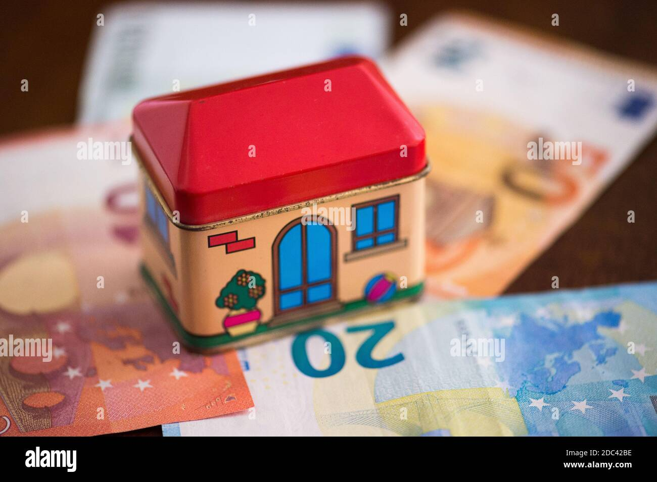 creative photo for home investment, renovation house tax, eco bonus for covid Stock Photo