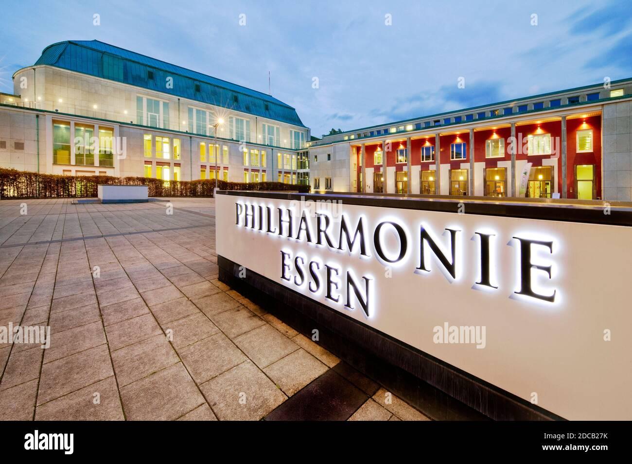 concert venue Saalbau Essen, home of the Essen Philharmonic, Germany, North Rhine-Westphalia, Ruhr Area, Essen Stock Photo