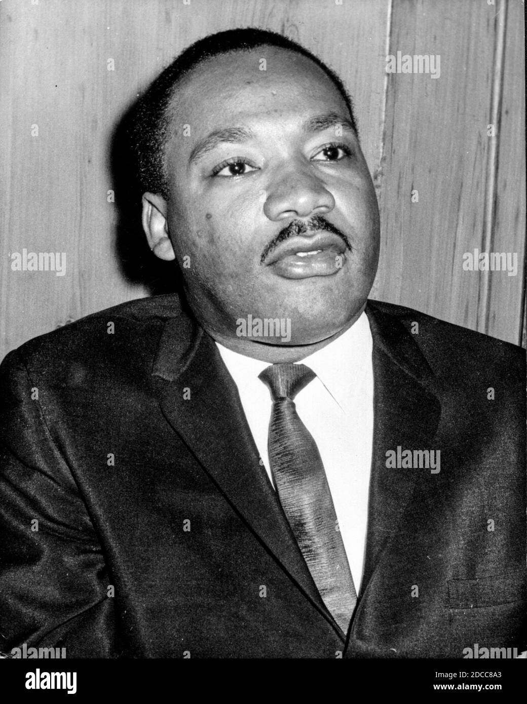 The leader of the civil rights movement in America, the Reverend Martin Luther King Jr Stock Photo