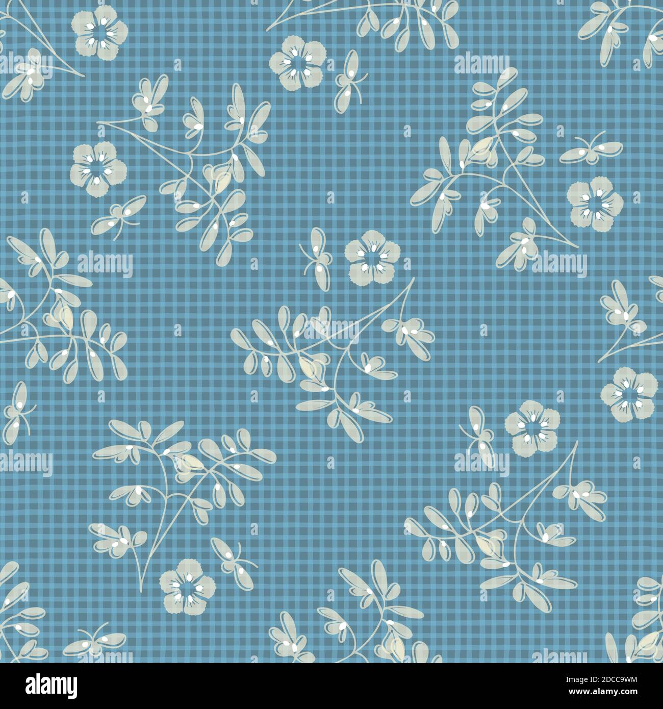 Dishcloth Gingham Seamless Vector Repeat Pattern Background. Red ...