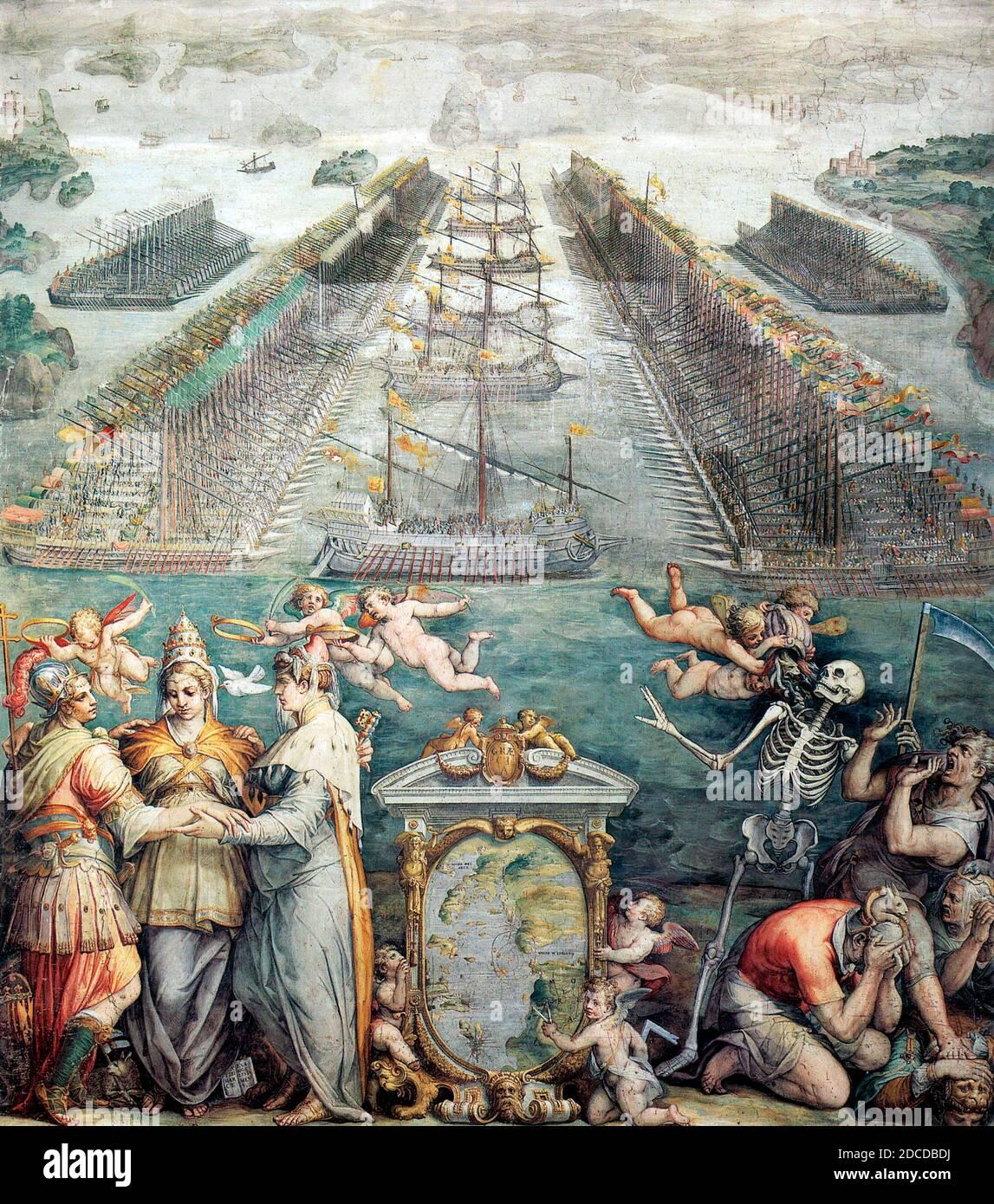 Battle of Lepanto, 1571 Stock Photo