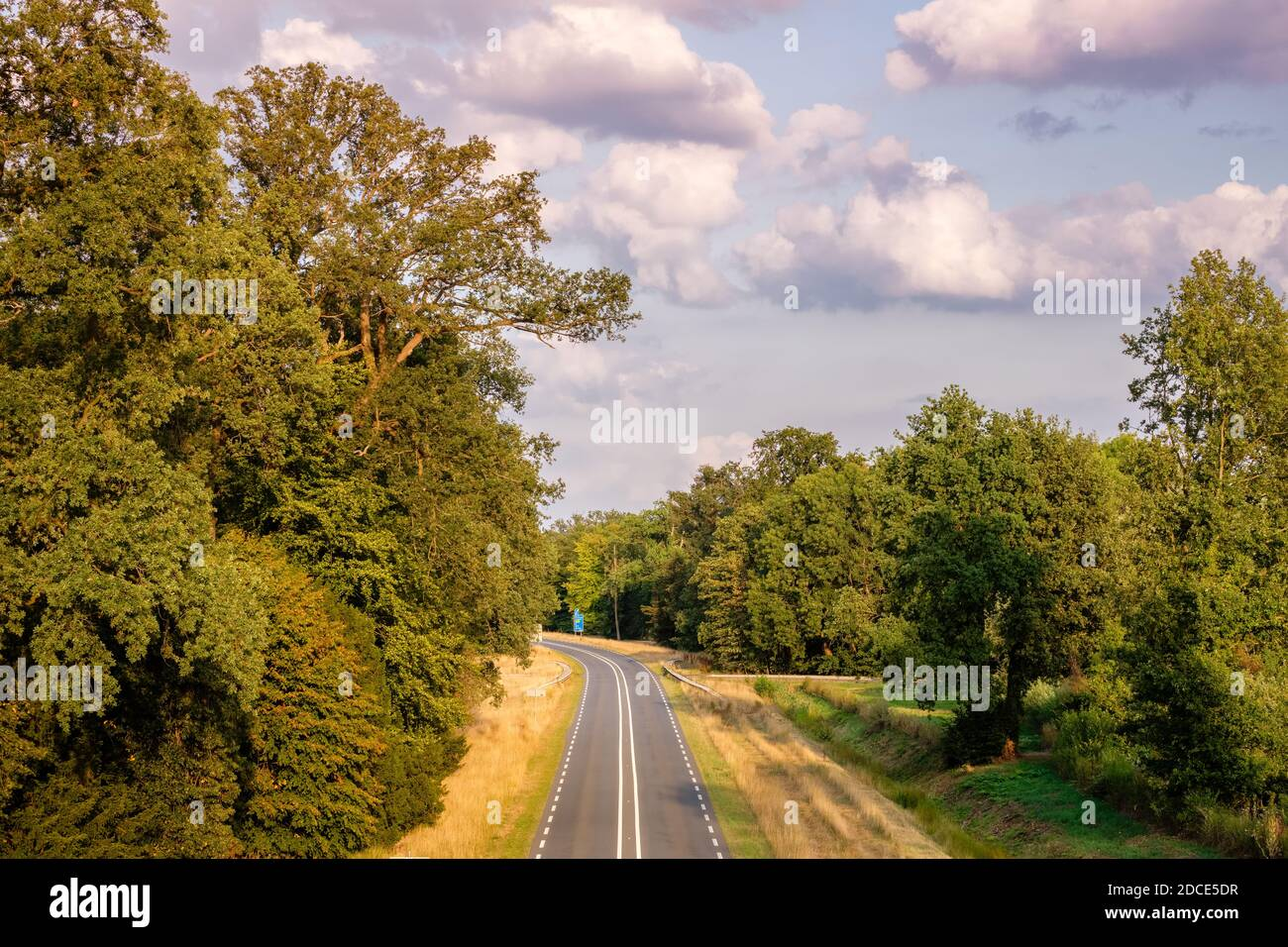 The N346 is a 45 kilometers long Dutch provincial road located in the provinces of Gelderland and Overijssel between the towns of Zutphen and Hengelo Stock Photo
