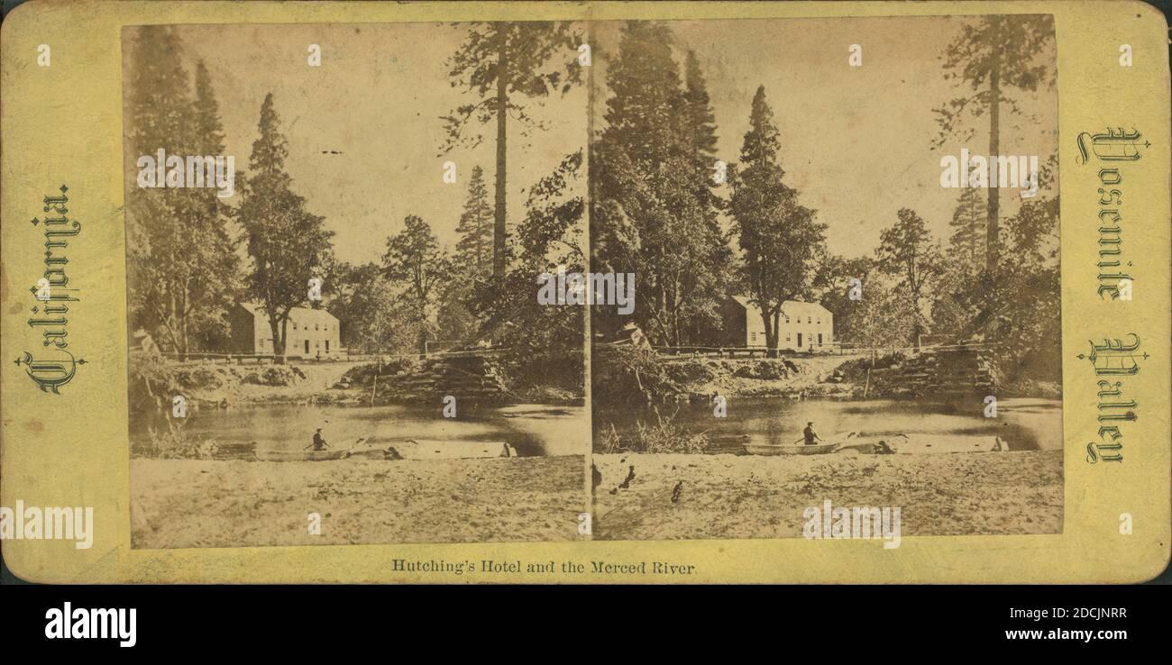 Photo of Stereograph,Hutchings/' Hotel,Yosemite Valley,Mariposa County,California