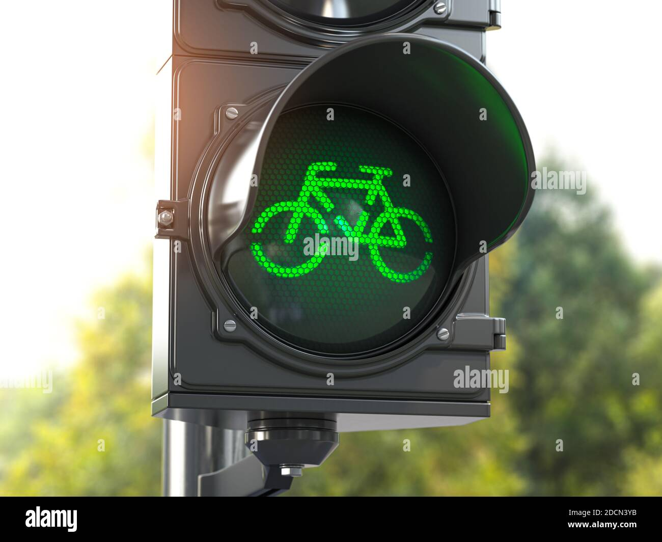 Bicycle Light Illustration High Resolution Stock Photography And Images Alamy Traffic light bicycle night glow neon