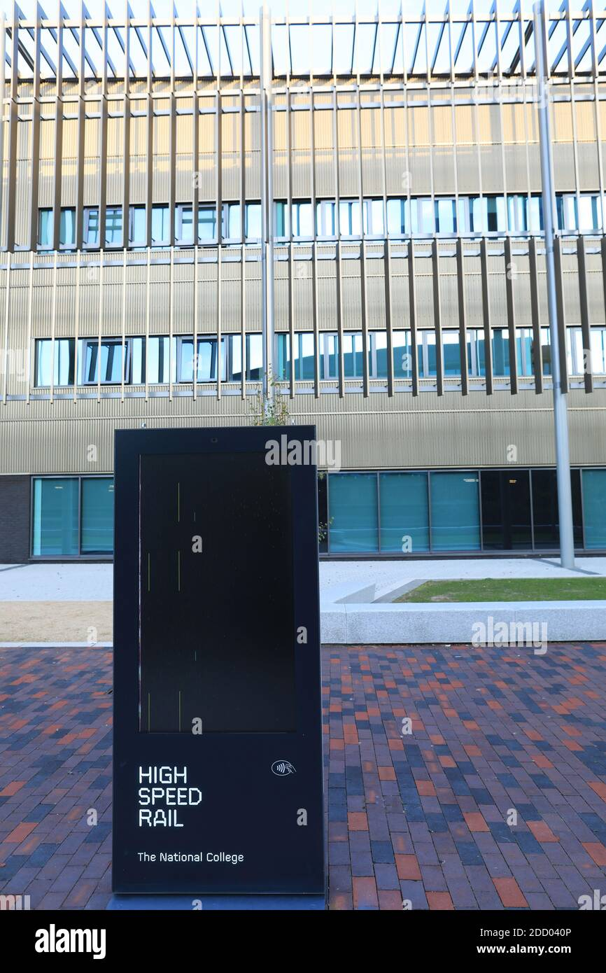 HS2 High Speed Rail College building in Birmingham, UK. Stock Photo
