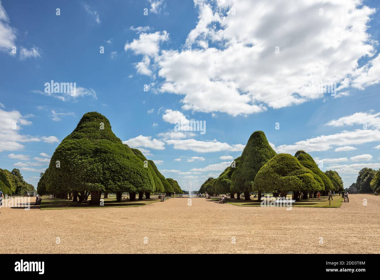 The Great Fountain Garden at Hampton Court Palace in London, UK Stock Photo