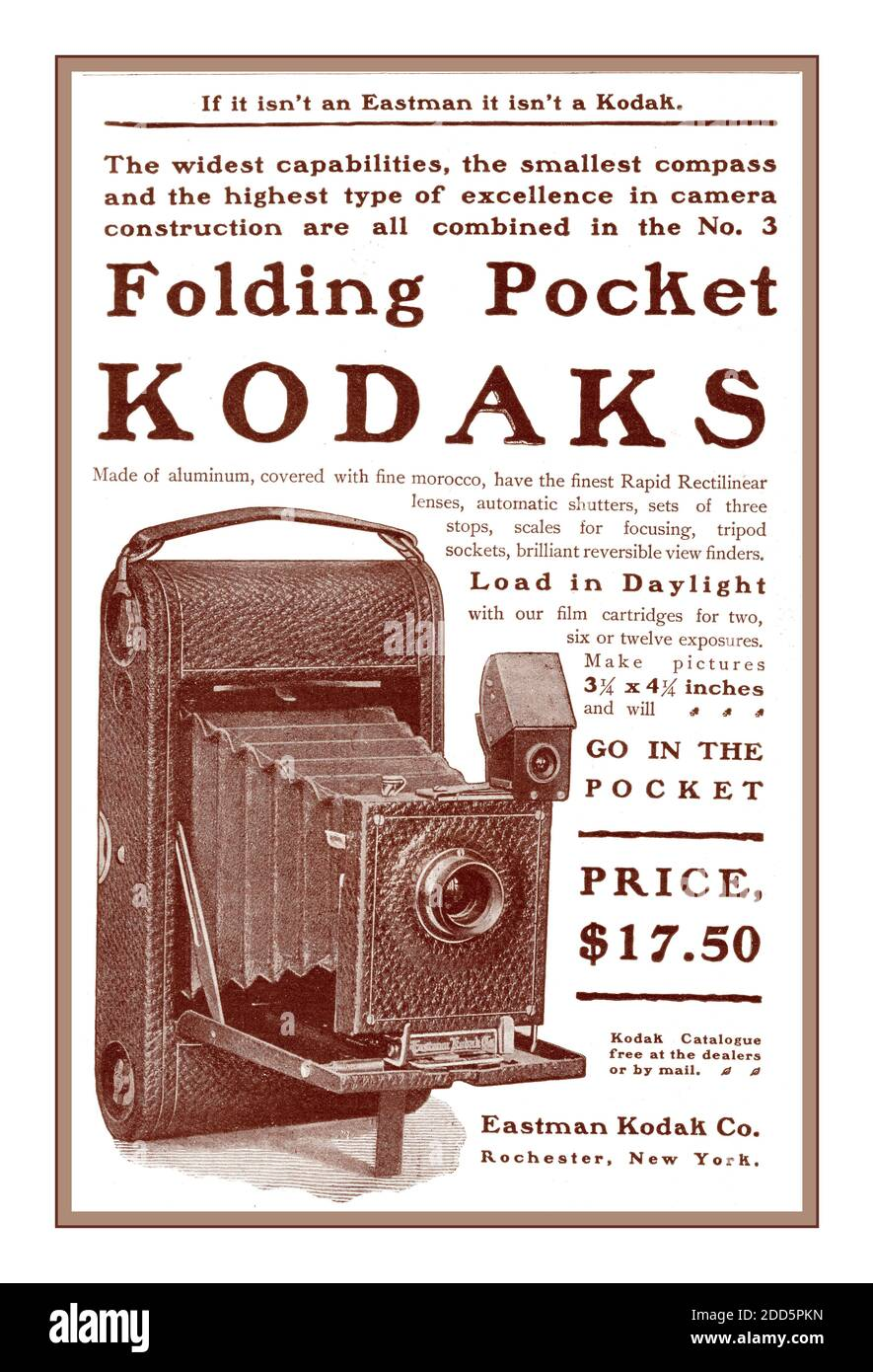 Eastman Kodak Advertisement High Resolution Stock Photography And Images Alamy