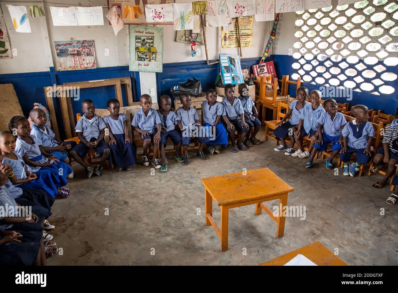 Togo, school Stock Photo