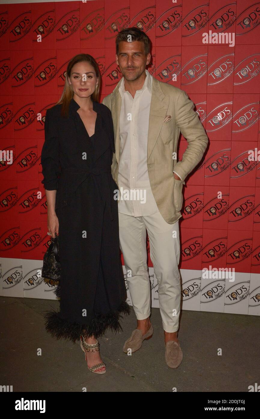 Olivia Palermo, Johannes Huebl attending the Tod's x Alber Elbaz Happy  Moments party at Palais de Tokyo during Paris Fashion Week on July 2, 2019  in Paris, France. Photo by Julien Reynaud/APS-Medias/ABACAPRESS.COM