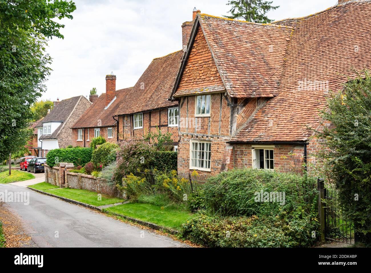 Timber-framed houses, Nottingham Fee, Blewbury, Oxfordshire, England, United Kingdom Stock Photo