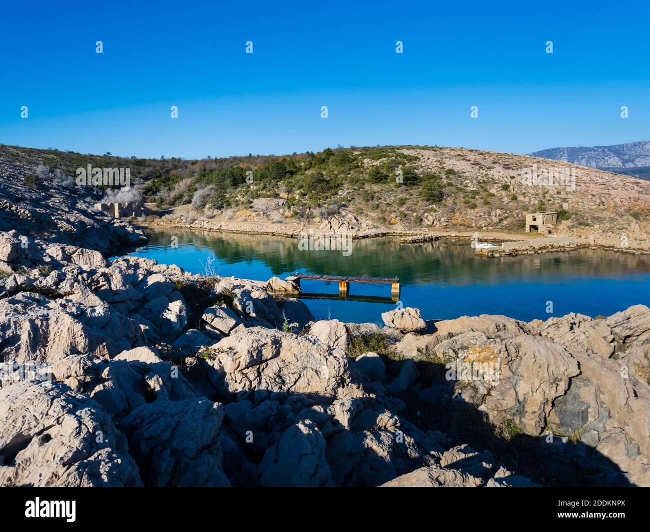 Rudine bay on Krk island in Croatia Stock Photo