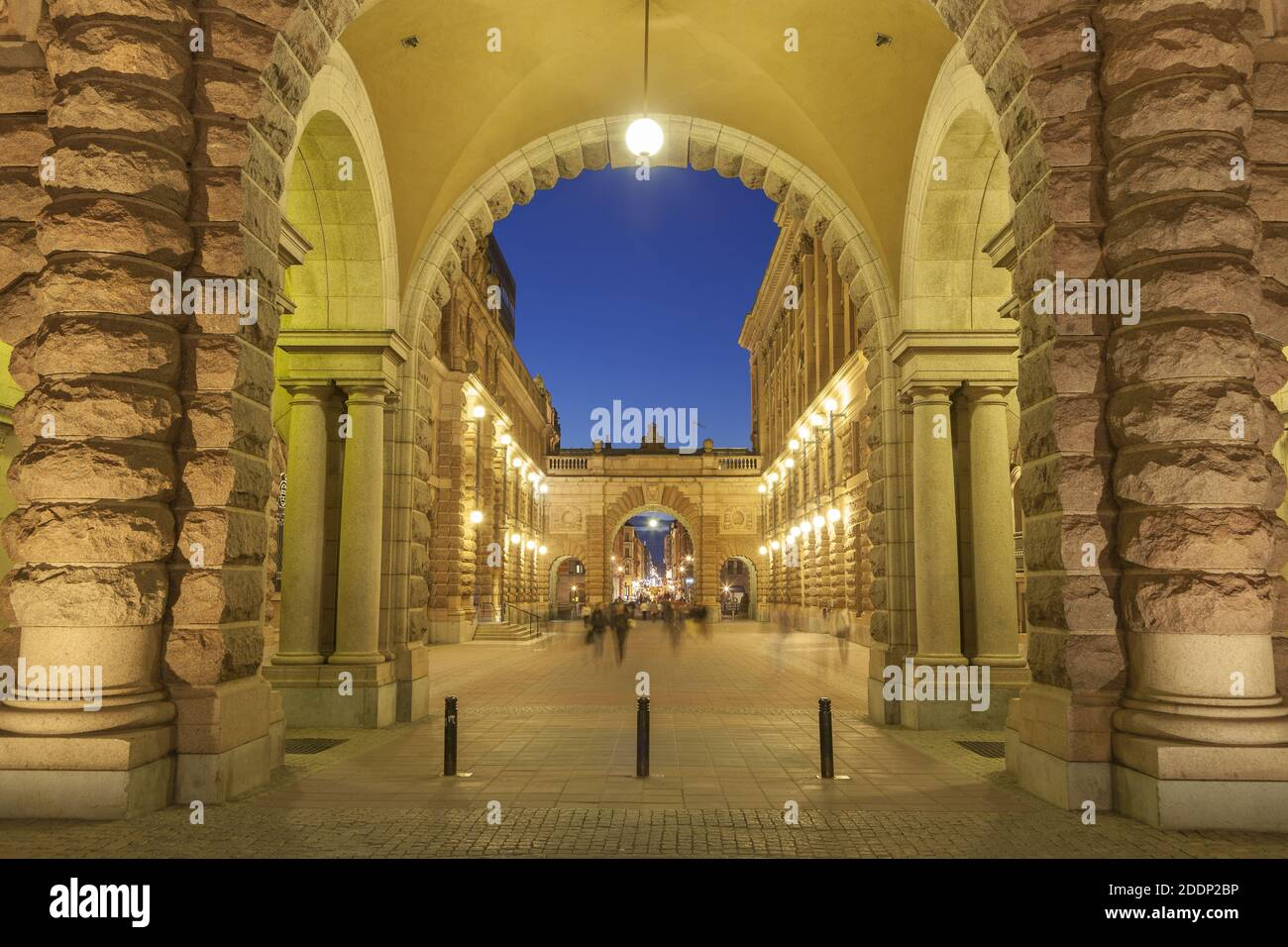 geography / travel, Sweden, Stockholm Laen, Stockholm, Riksgatan on the parliament, Helgeandsholmen, S, Additional-Rights-Clearance-Info-Not-Available Stock Photo