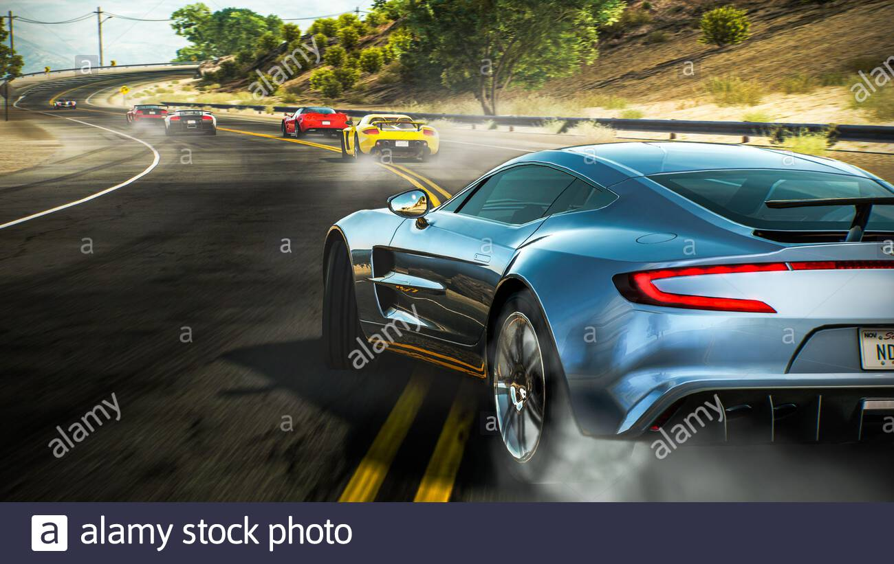 Spain Badajoz November 9 2020 Aston Martin One 77 In Videogame Need For Speed Hot Pursuite Remastered Stock Photo Alamy