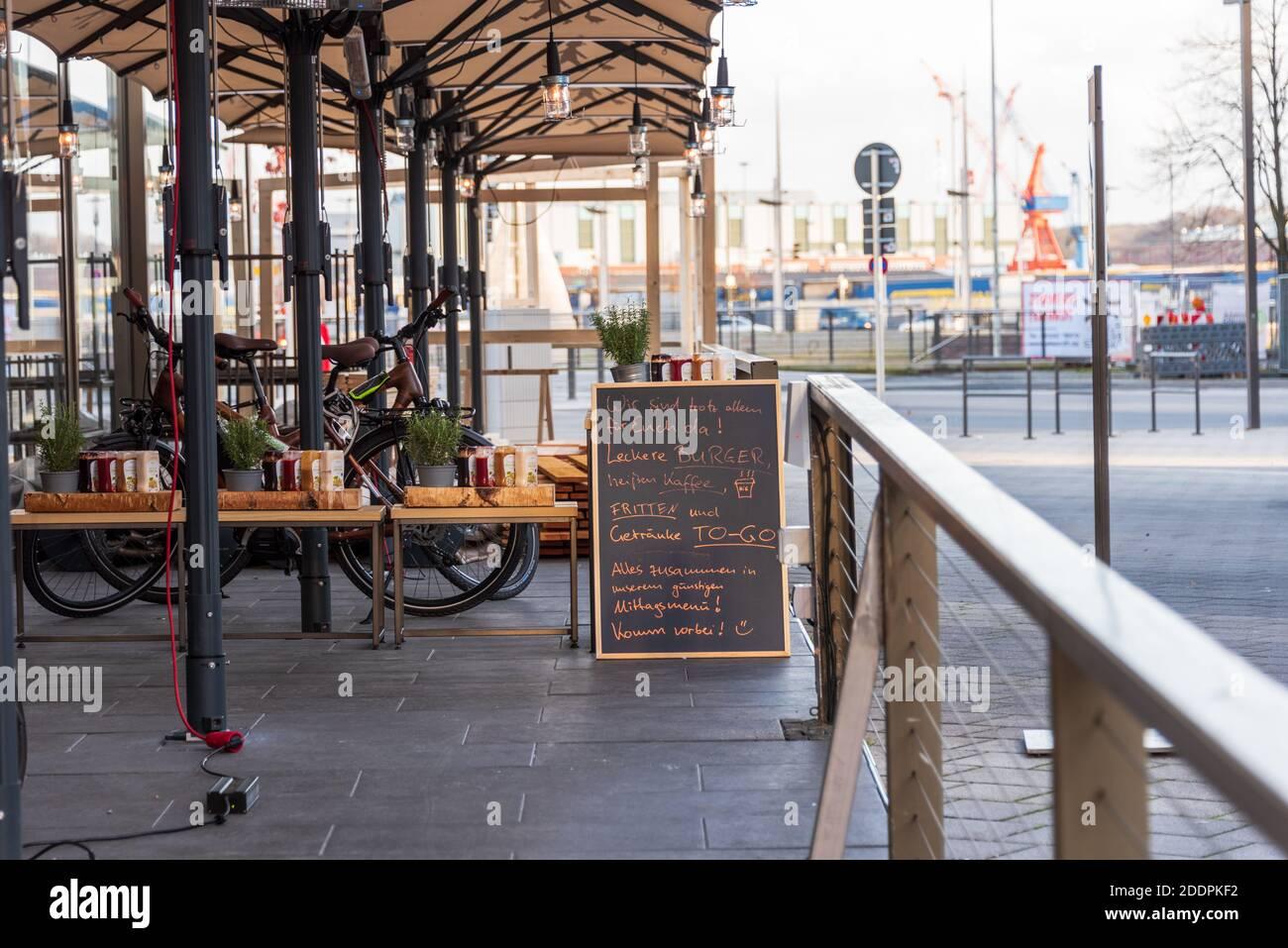 Leere Innestadt in der Landeshauptstadt Kiel während das Corona Lockdowns Stock Photo