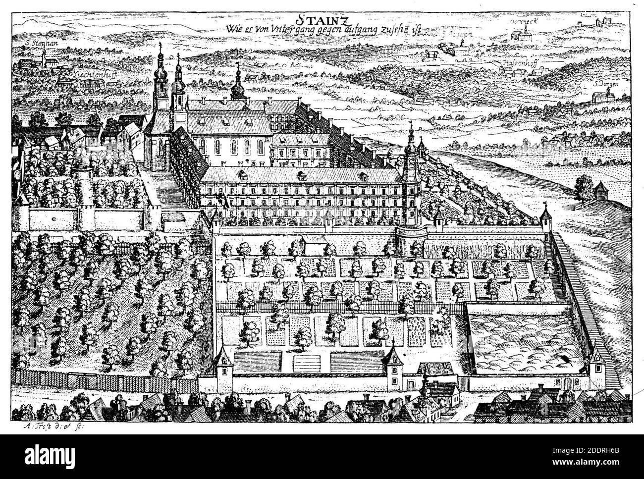 Kloster Stainz 1681, Georg Matthäus Vischer. Stock Photo