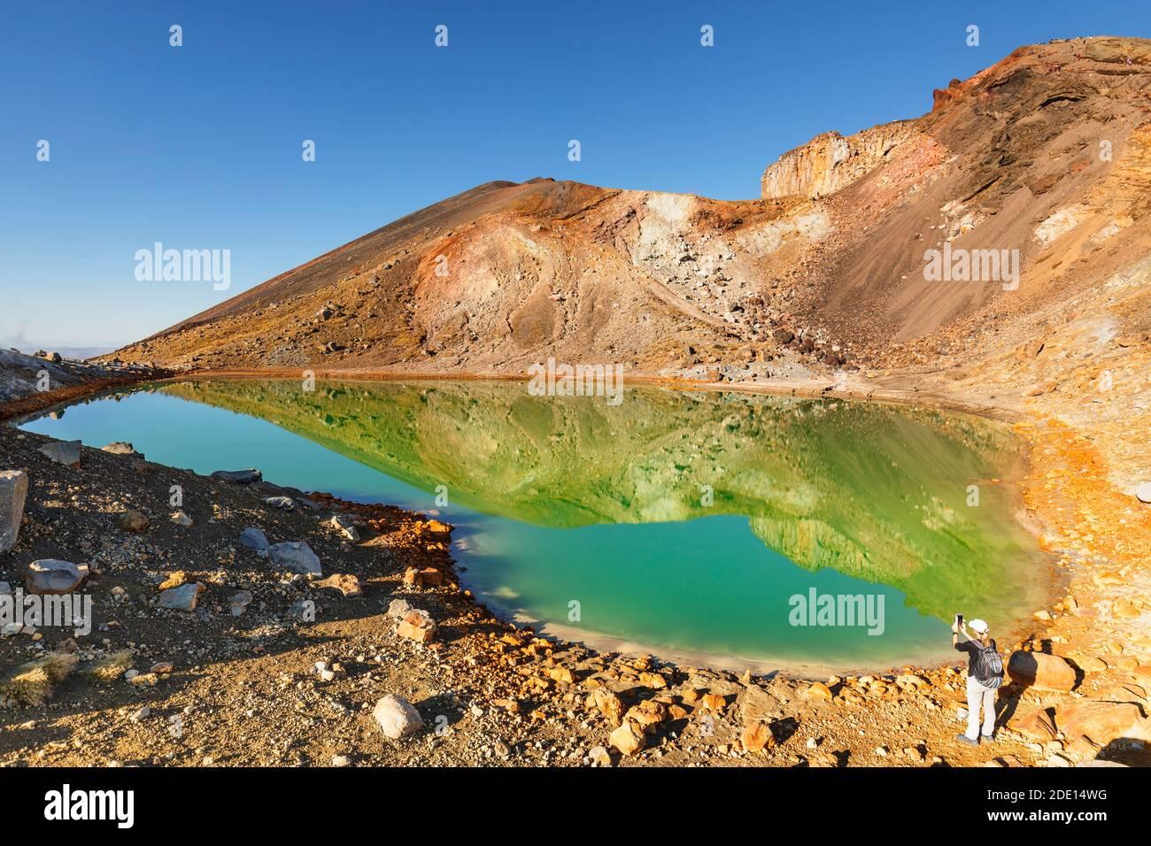 Emerald Lakes, Tongariro Alpine Crossing, Tongariro National Park, UNESCO World Heritage Site, North Island, New Zealand, Pacific Stock Photo