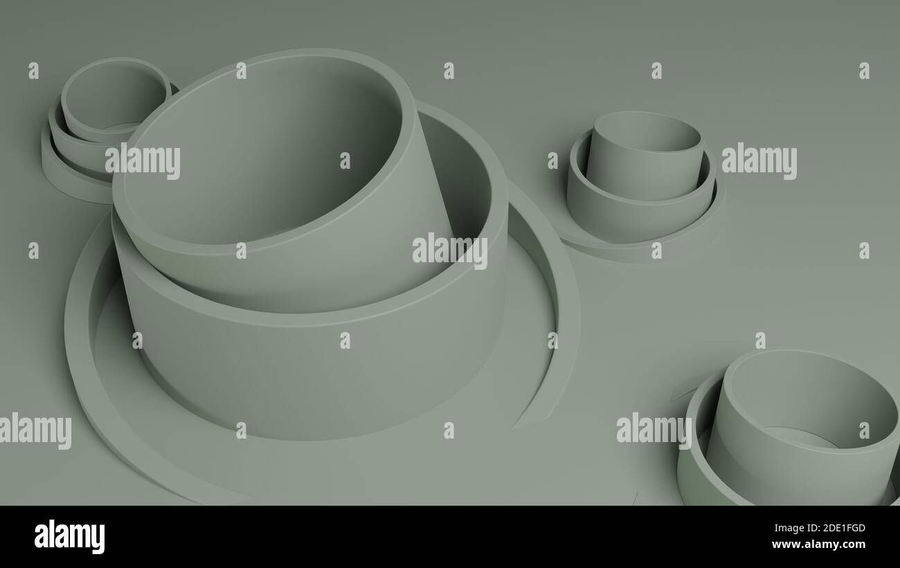 Abstract 3D illustration for background design. Geometric shapes. 3D Rendering. Stock Photo