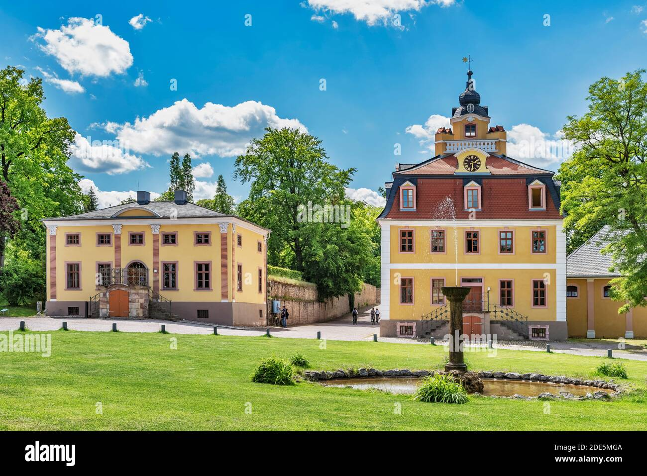 Cavalier houses in the Belvedere Palace, Weimar, Thuringia, Germany, Europe Stock Photo
