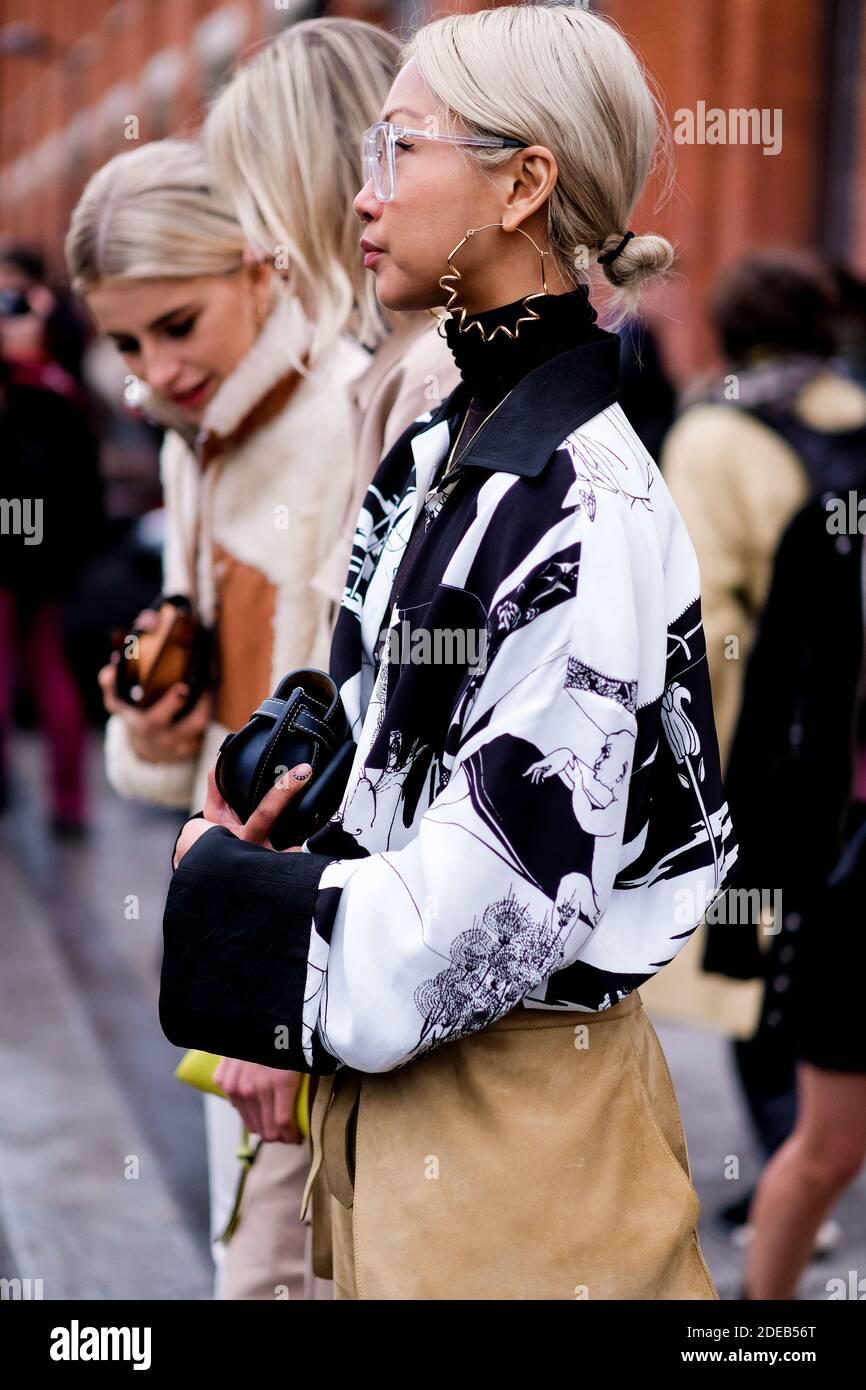 Street style, Vanessa Hong arriving at Nina Ricci Fall Winter 20 ...