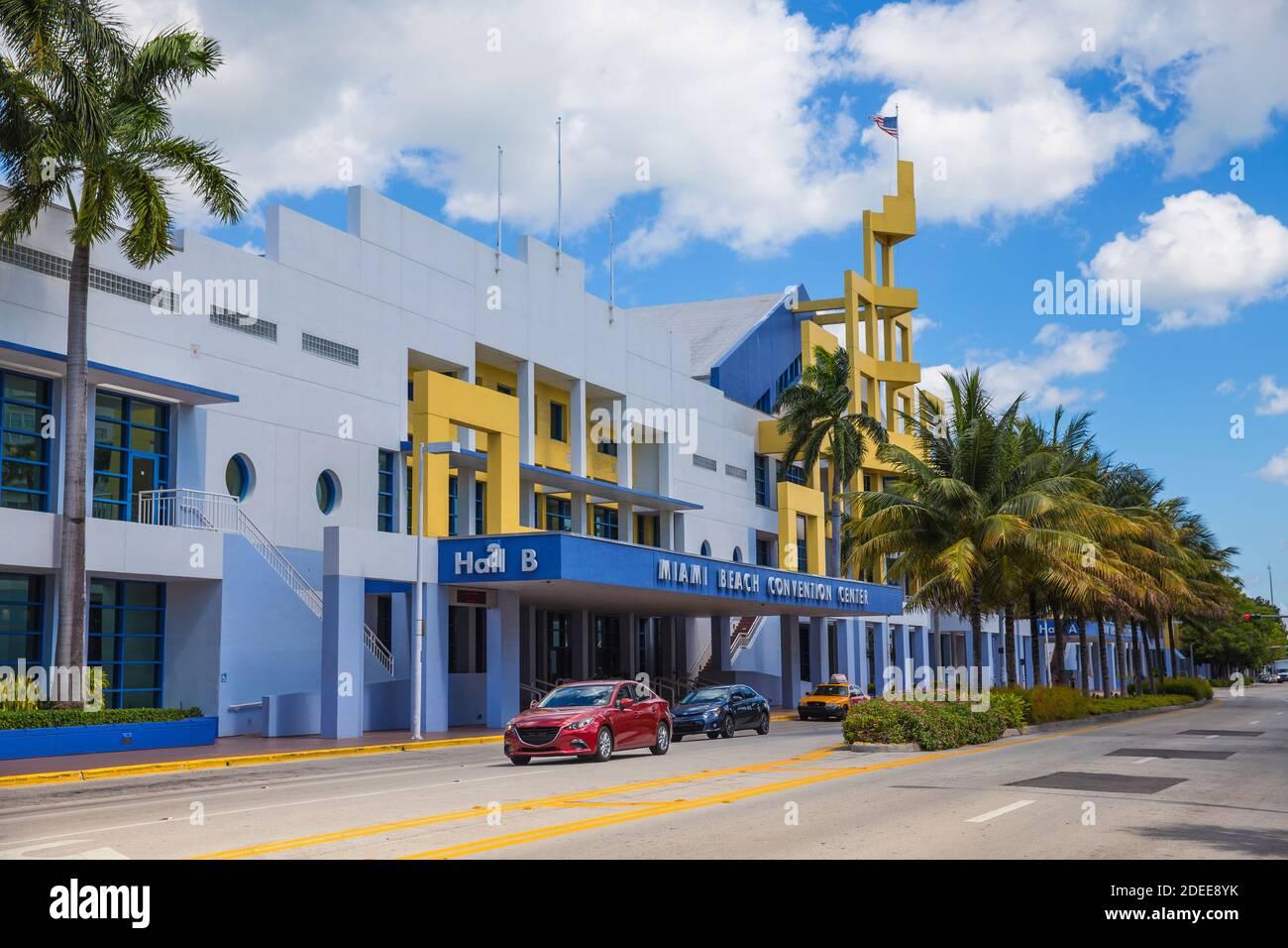 U.S.A, Miami, Miami beach, South Beach, Miami Convention Center Stock Photo