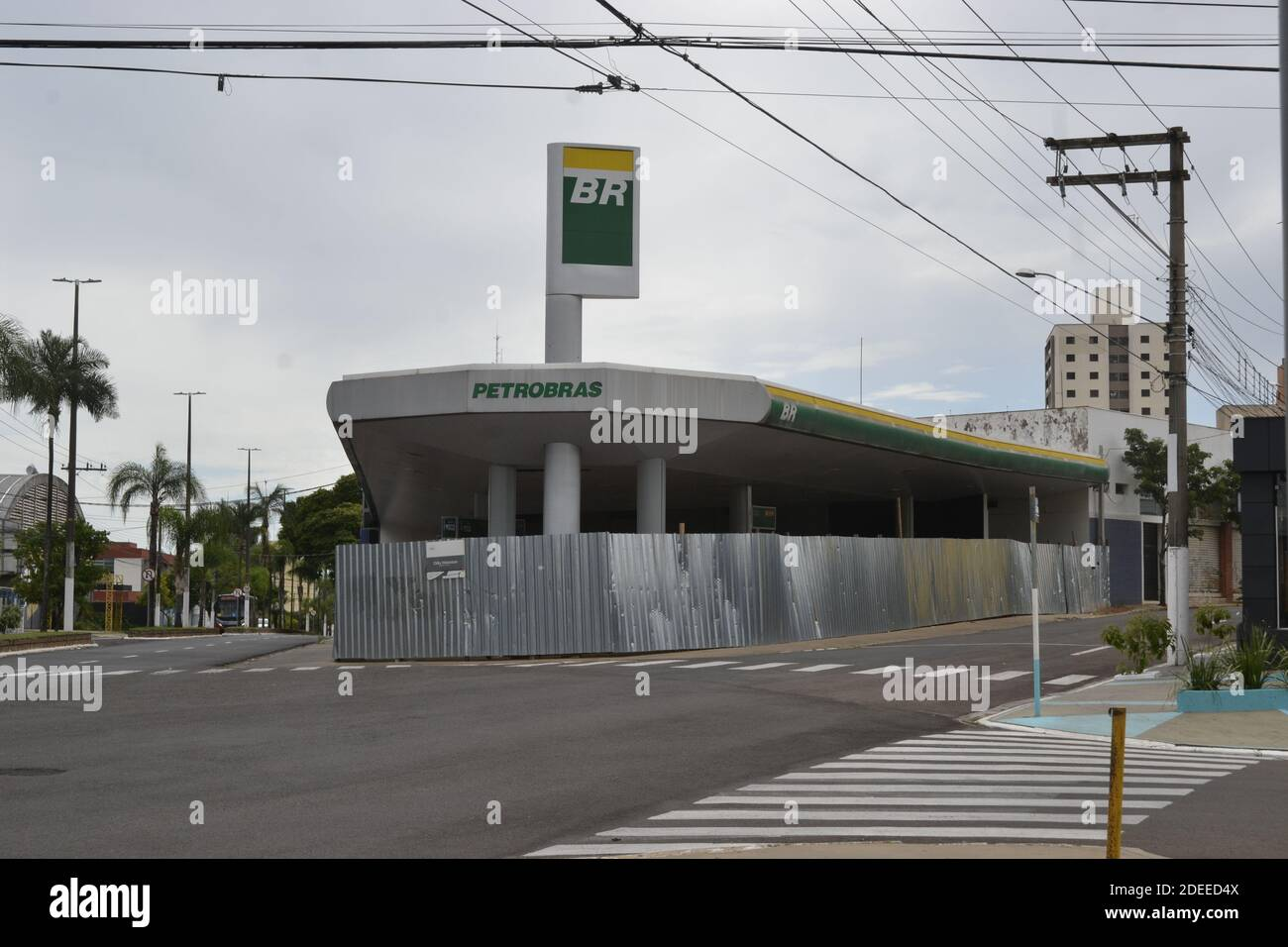 Brazil State Of Sao Paulo November 27 2020 Abandoned Gas Station In The City Center In The Countryside Of Sao Paulo Brazil Stock Photo Alamy
