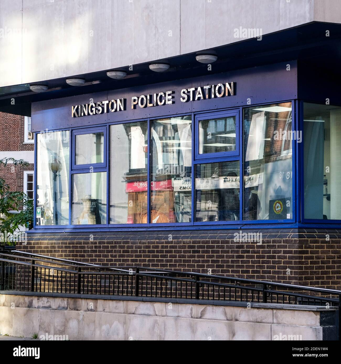 London UK, December 01 2020, Kingston Metropolitan Police Station Building With No People Stock Photo
