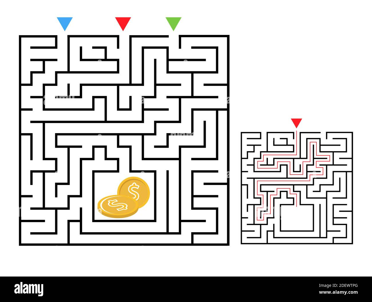Page 3 Path Maze Activity Kids High Resolution Stock Photography And Images Alamy [ 1055 x 1300 Pixel ]