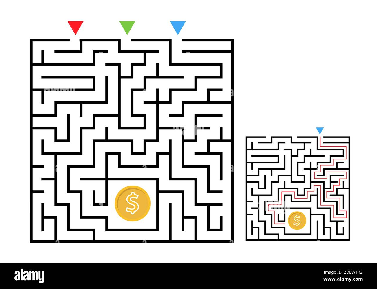 Page 3 Path Maze Activity Kids High Resolution Stock Photography And Images Alamy [ 997 x 1300 Pixel ]