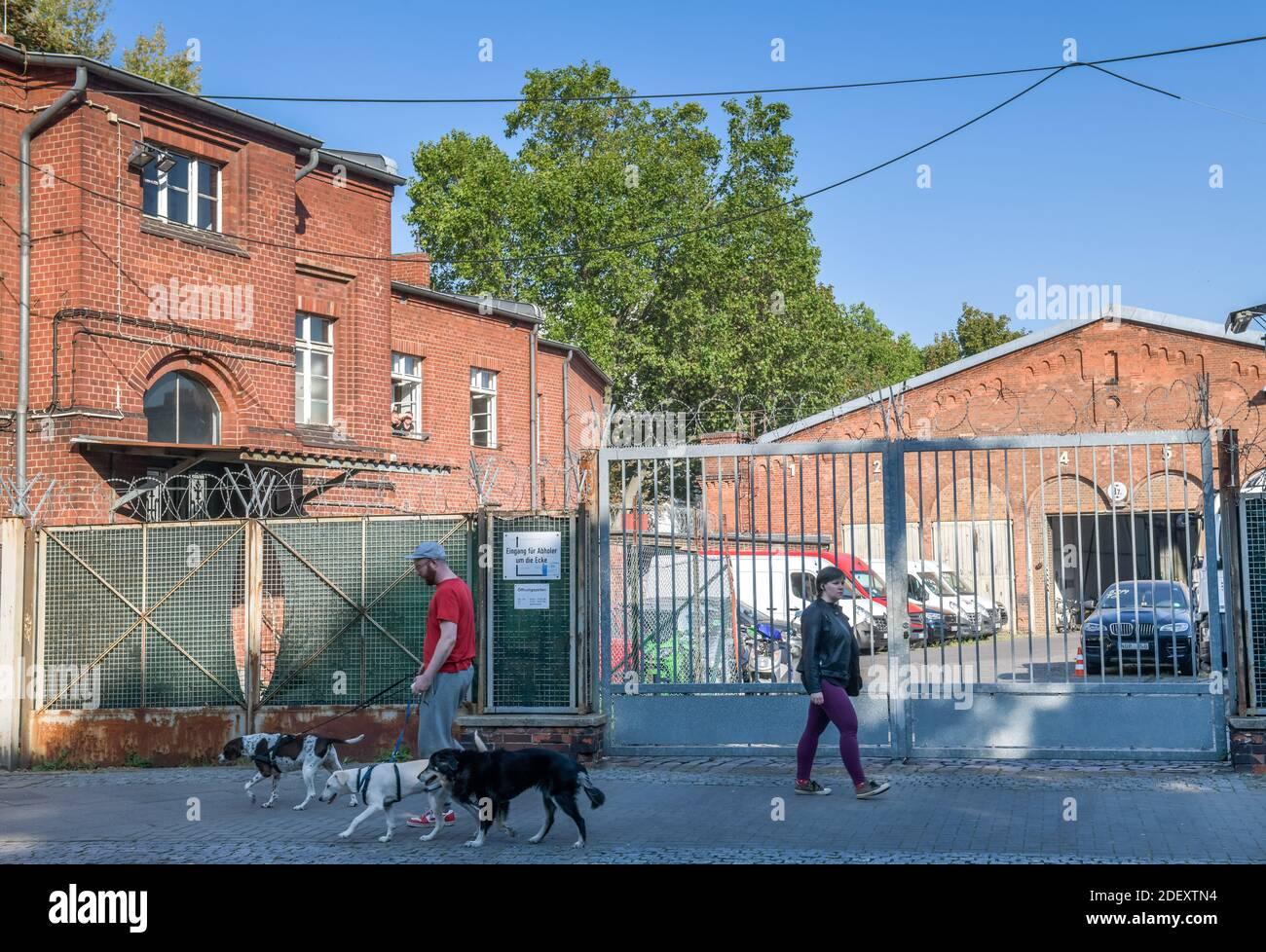 Sicherstellungsgelände für KfZ der Polizei Berlin, Belziger Straße, Schöneberg, Tempelhof-Schöneberg, Berlin, Deutschland Stock Photo