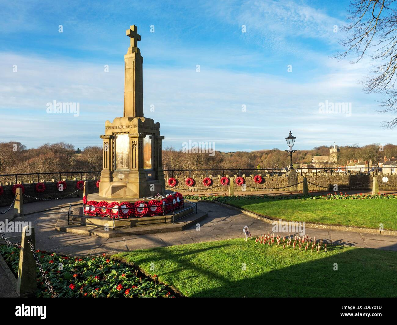 War memorial in the Castle Grounds at Knaresborough North Yorkshire England Stock Photo