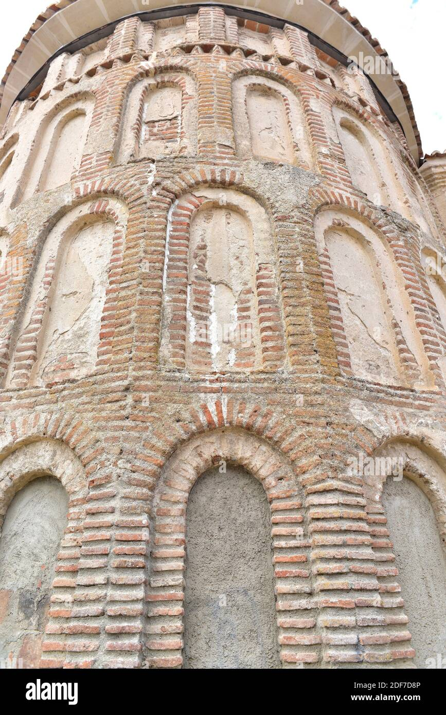 Madrigal de las Altas Torres, Santa Maria del Castillo Church (Mudejar 13th century). Apse. Avila province, Castilla y Leon, Spain. Stock Photo