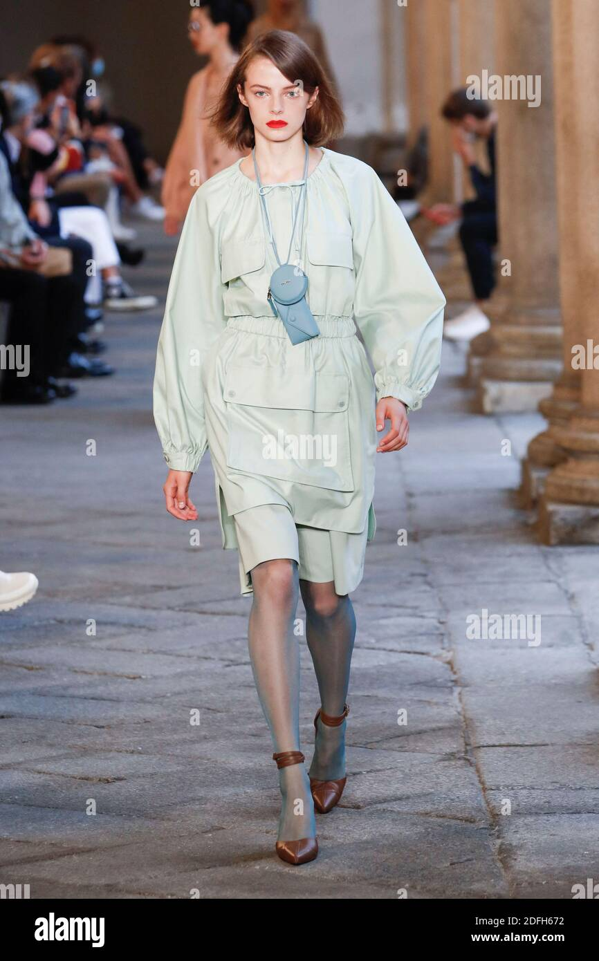 Models walks the runway at the Max Mara fashion show during the Milan Women's Fashion Week in Milan, Italy on September 24, 2020. Photo by Alain Gil-Gonzalez/ABACAPRESS.COM Stock Photo