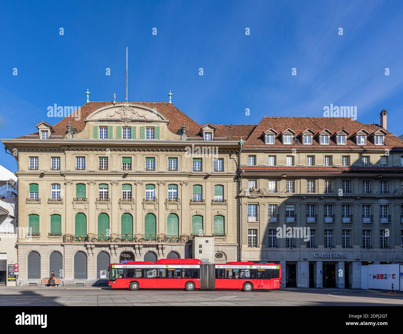 Valiant Bank and Credit Suisse Bank, Bern, Switzerland Stock Photo ...